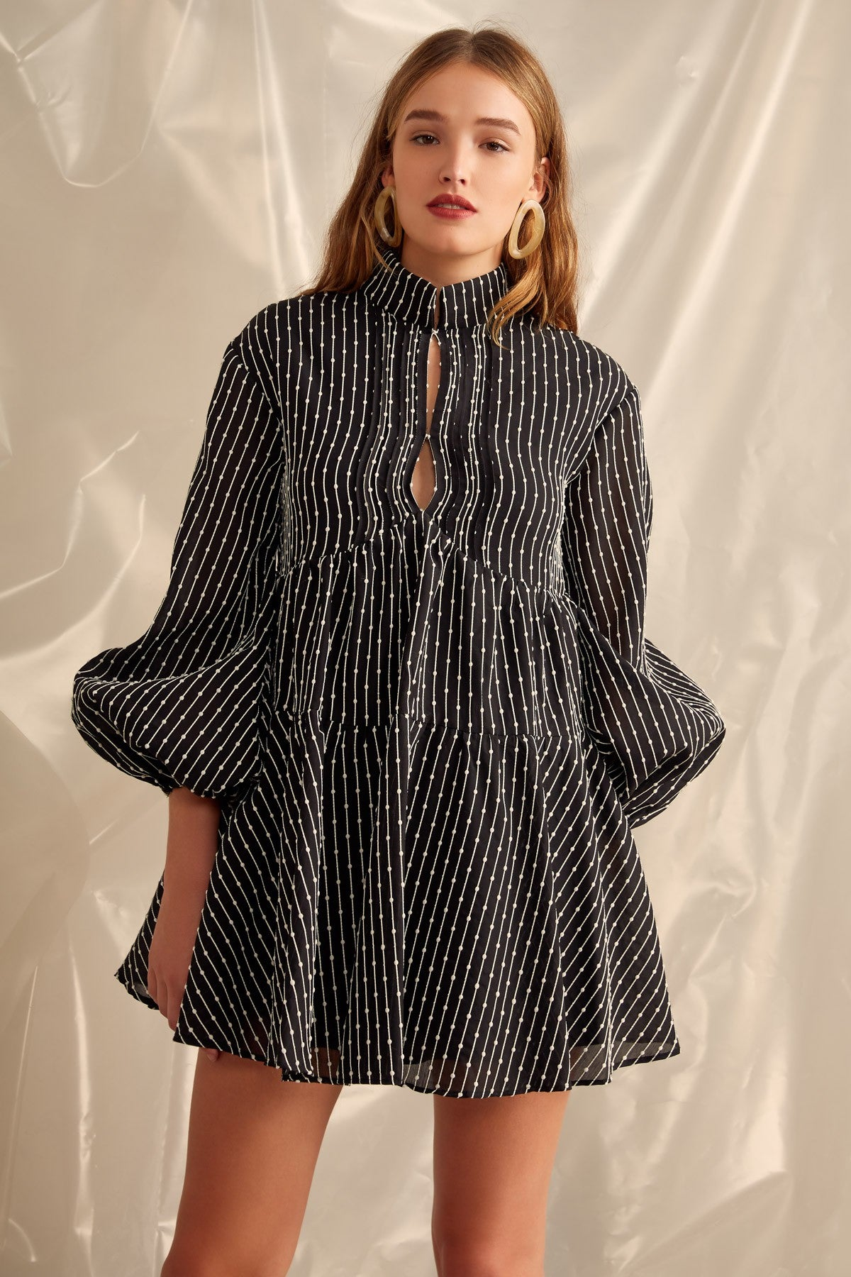 EVEN LOVE LONG SLEEVE DRESS black
