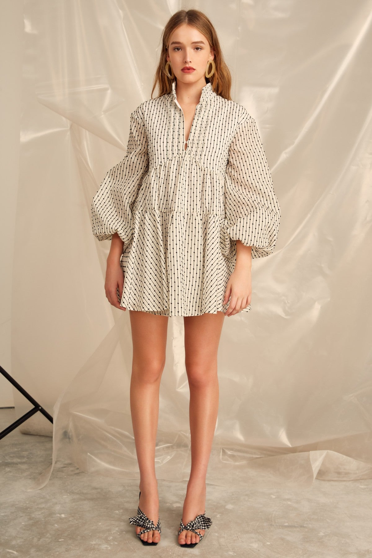 EVEN LOVE LONG SLEEVE DRESS ivory