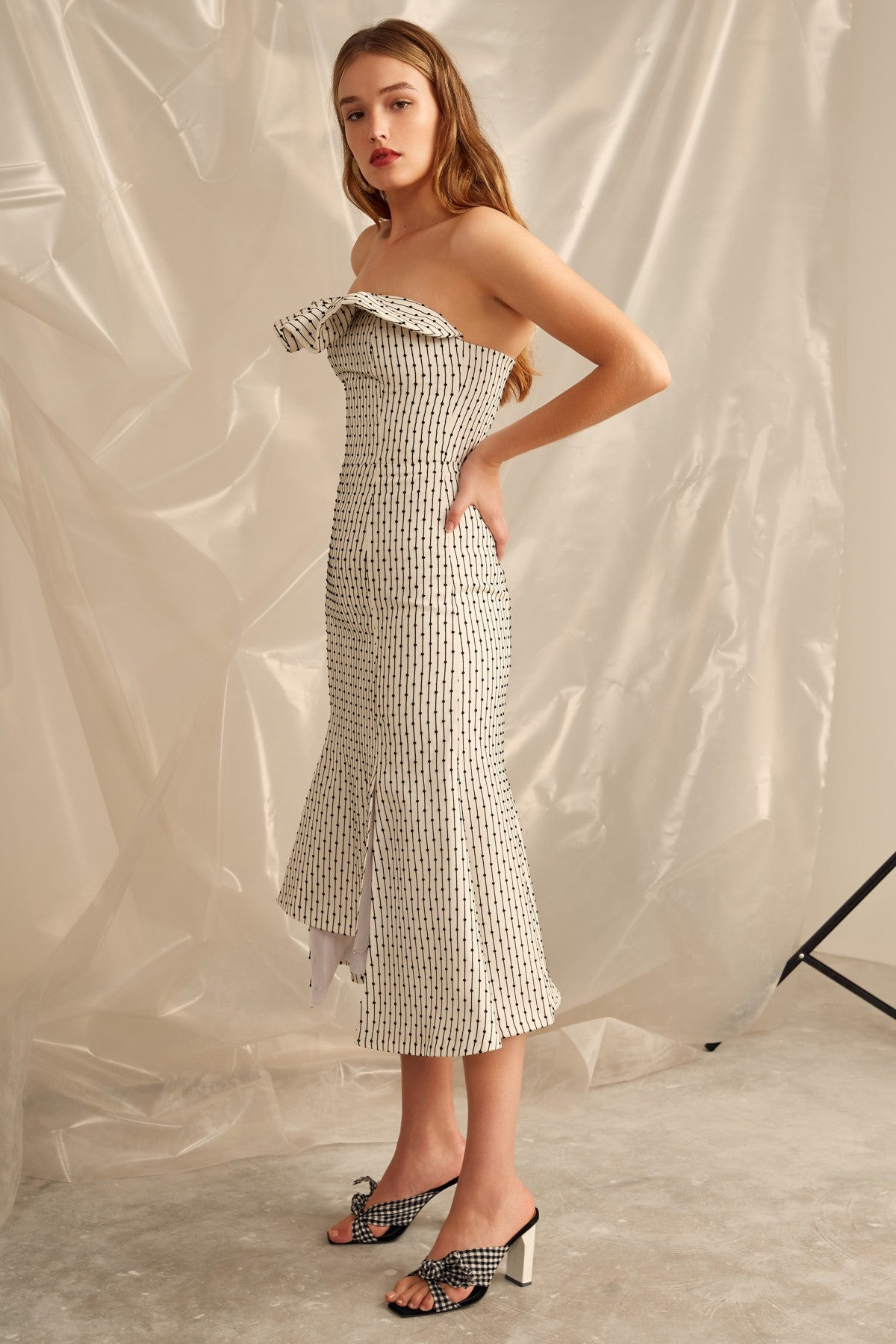 EVEN LOVE MIDI DRESS ivory