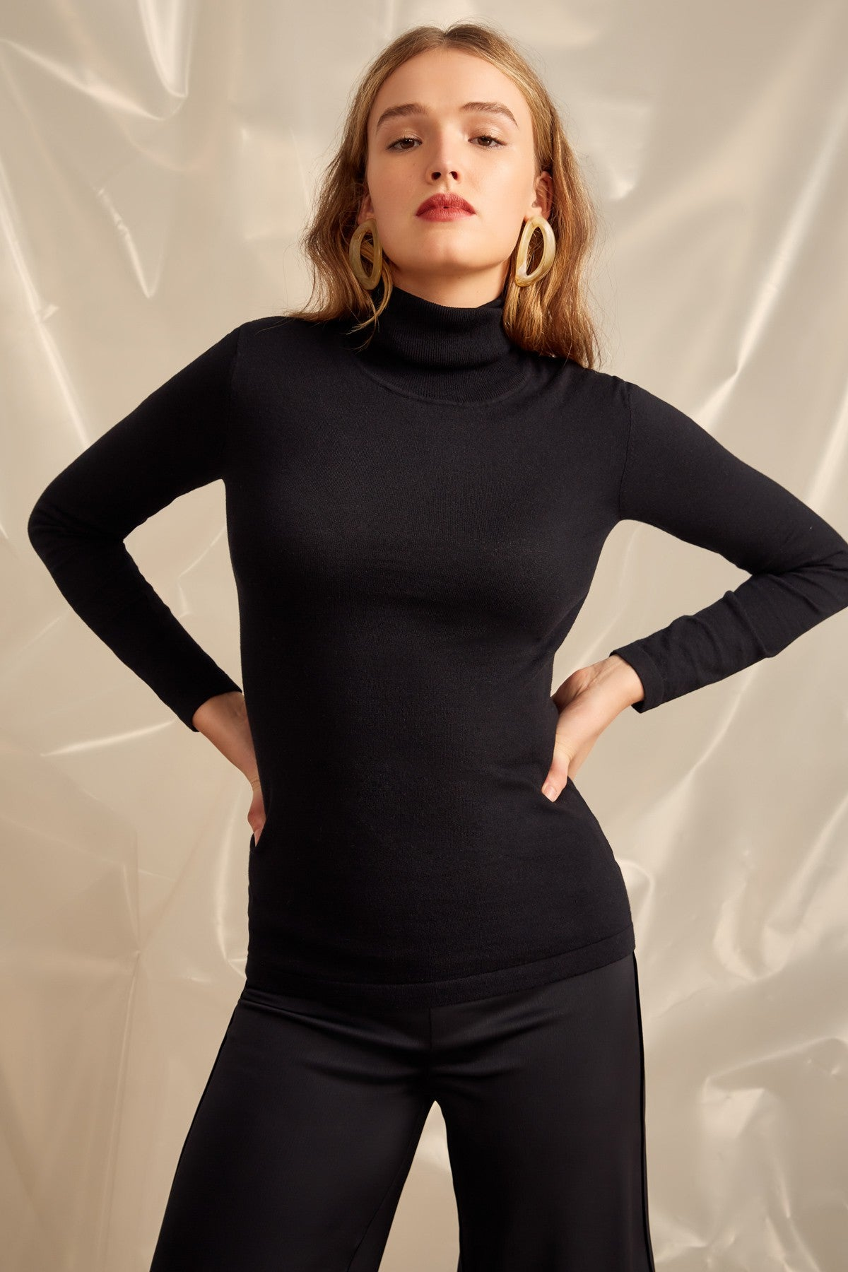 NEW RULES KNIT TOP black