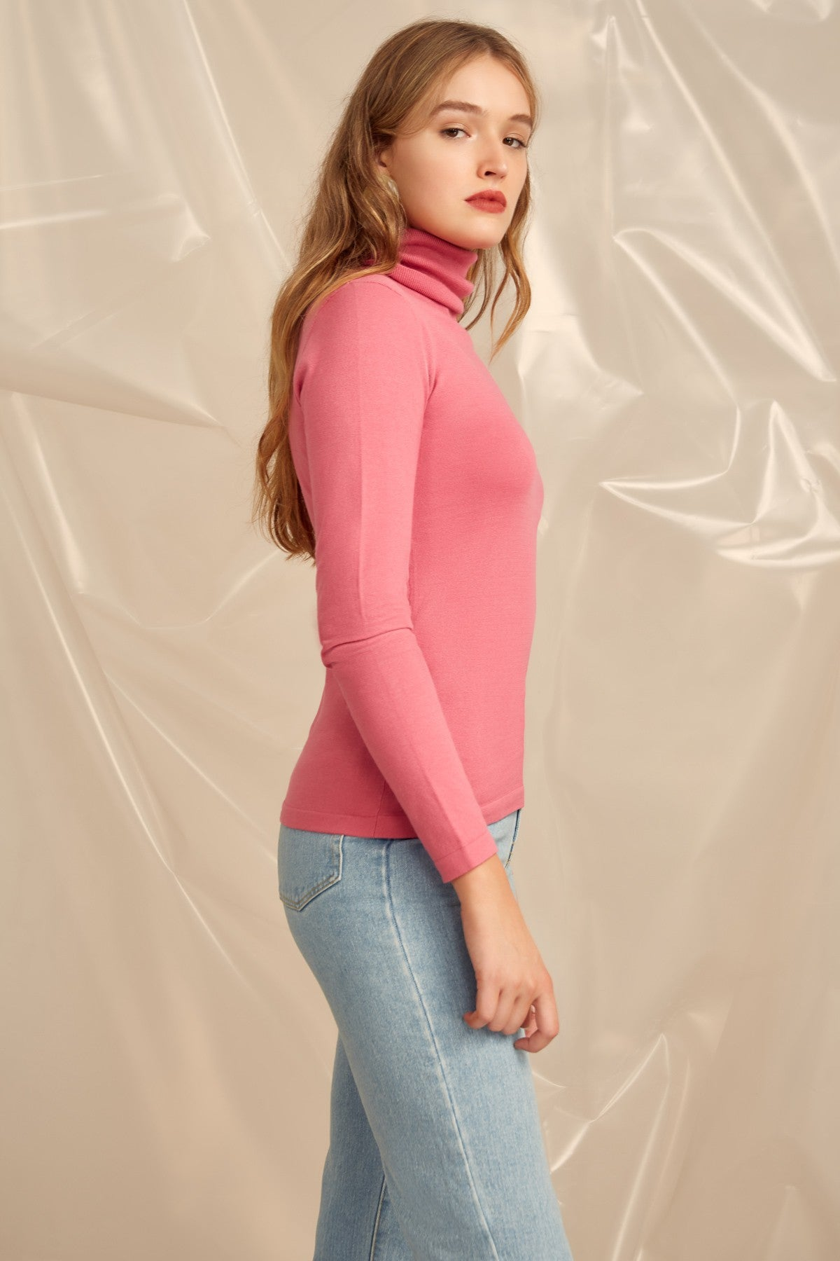 NEW RULES KNIT TOP pink