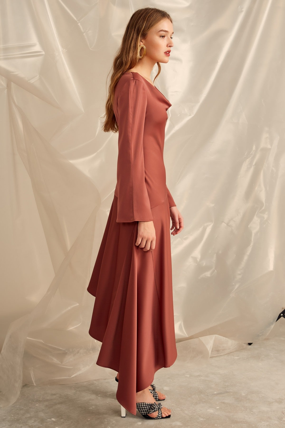 SIMPLE THINGS GOWN mahogany