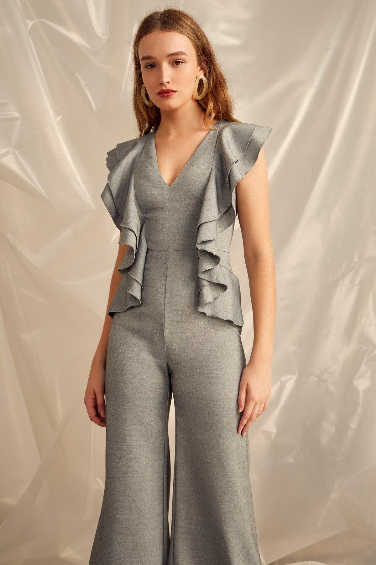 YOU OR ME JUMPSUIT grey marle
