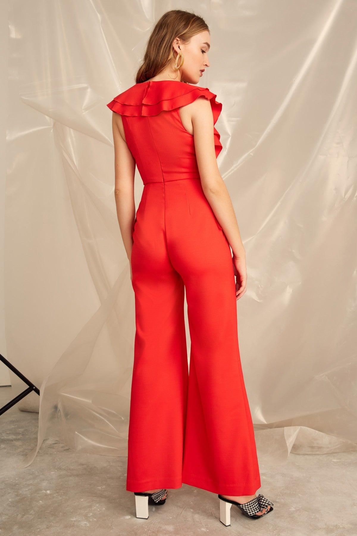 YOU OR ME JUMPSUIT cherry