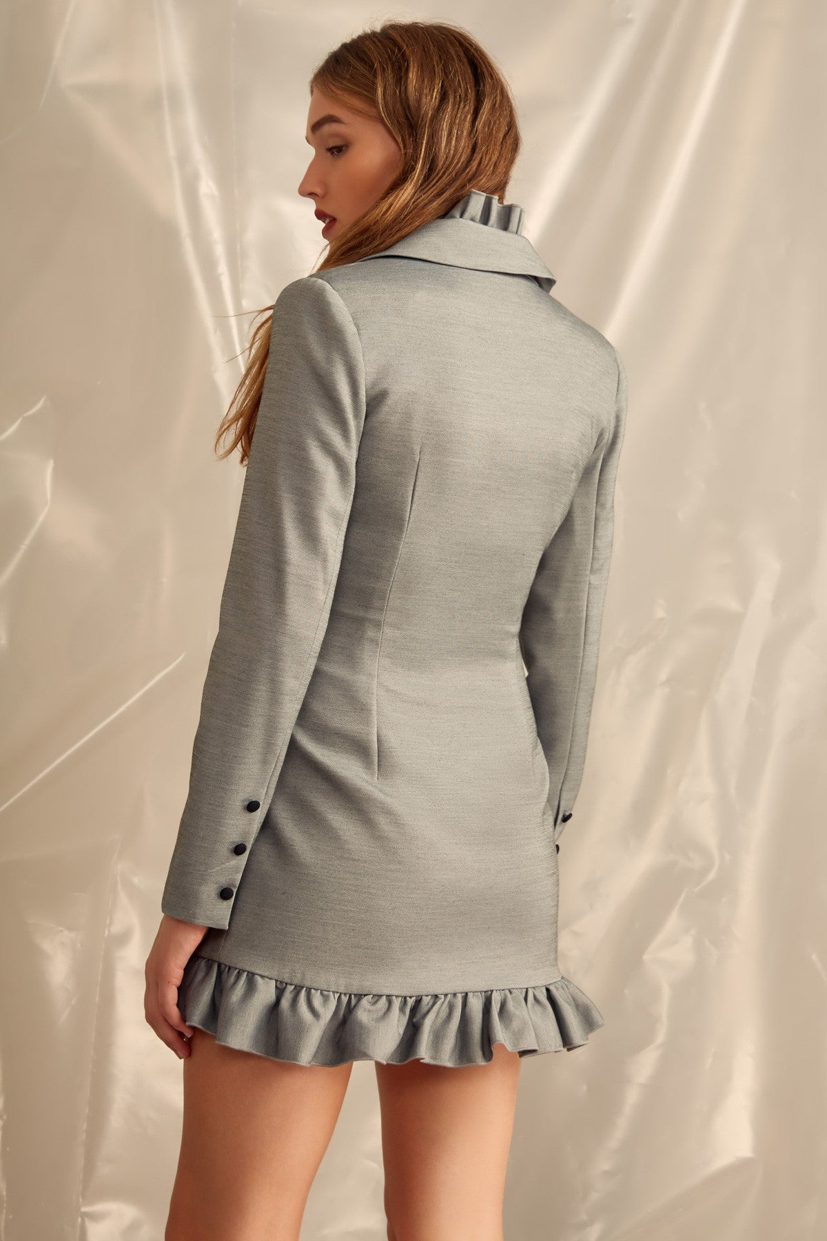 YOU OR ME LONG SLEEVE DRESS grey marle