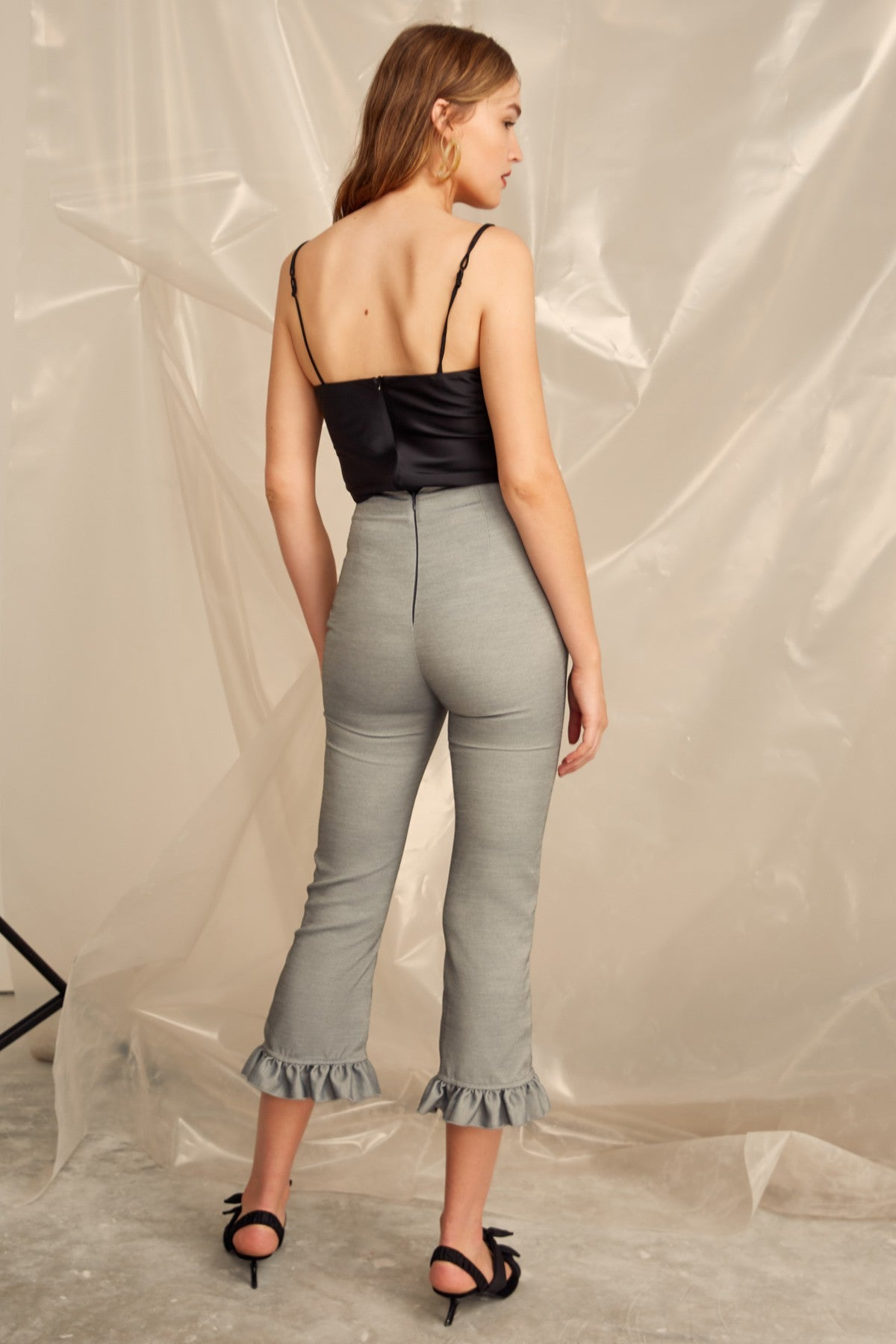 YOU OR ME PANT grey marle