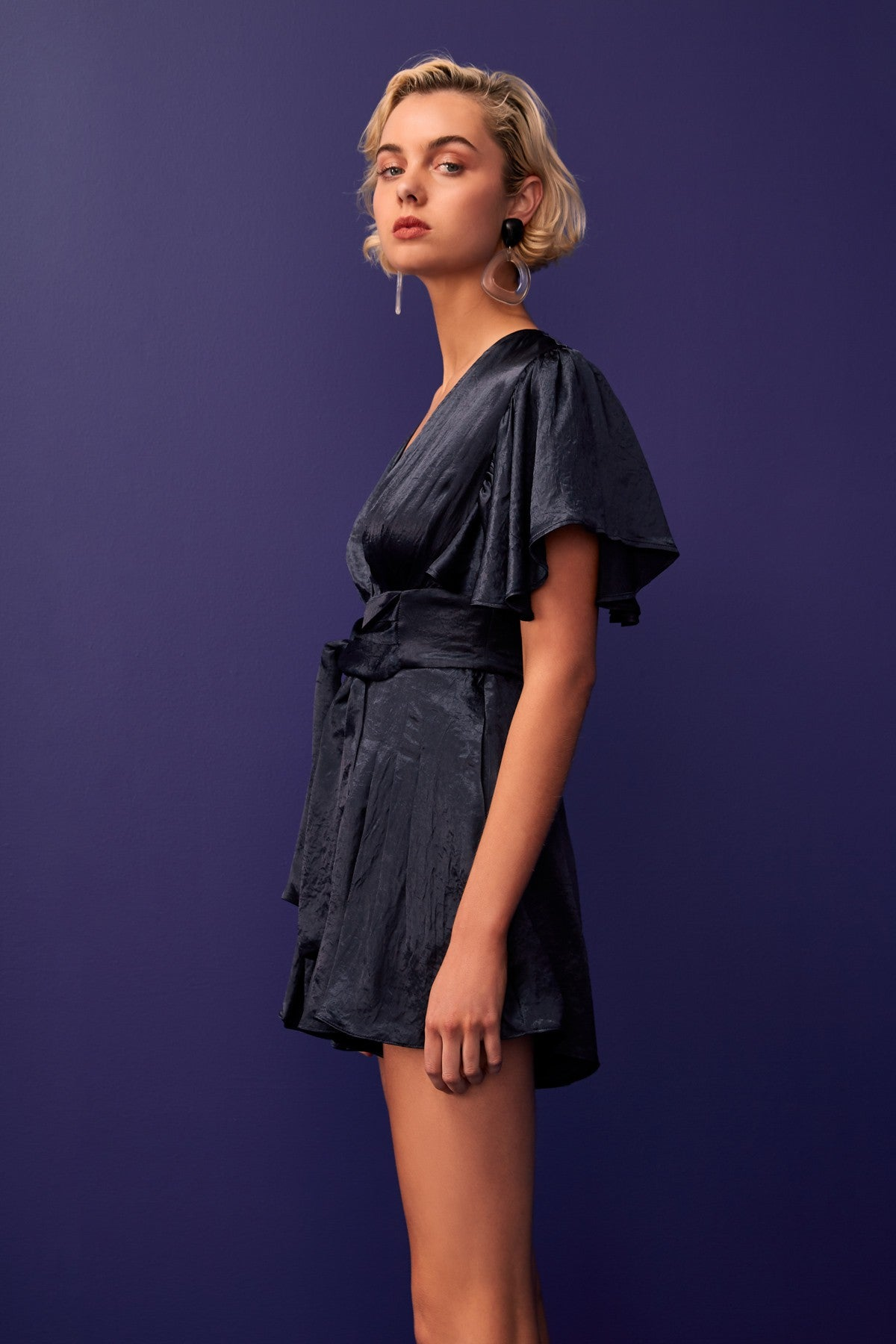 BE HERE NOW PLAYSUIT navy