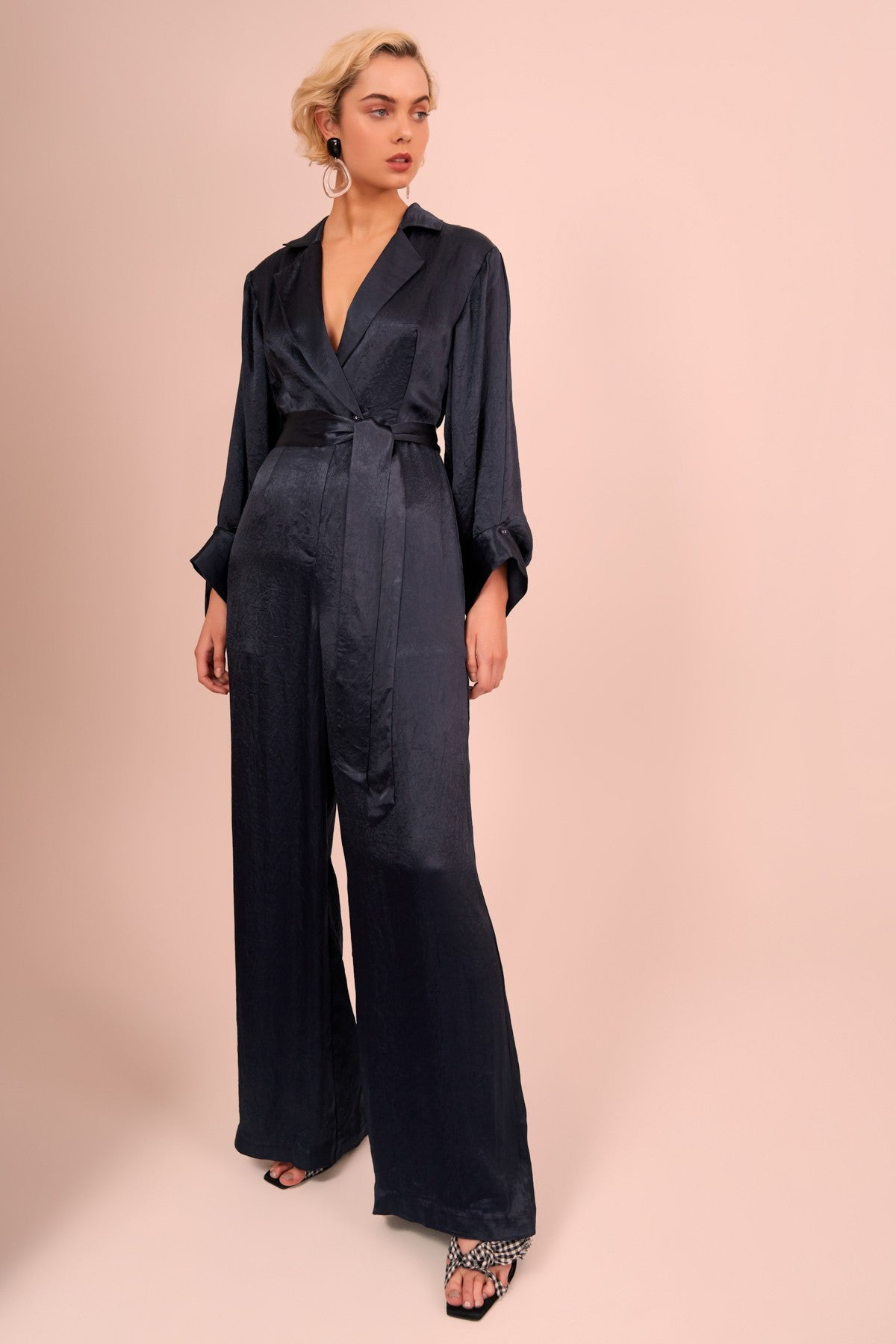 BE HERE NOW JUMPSUIT navy