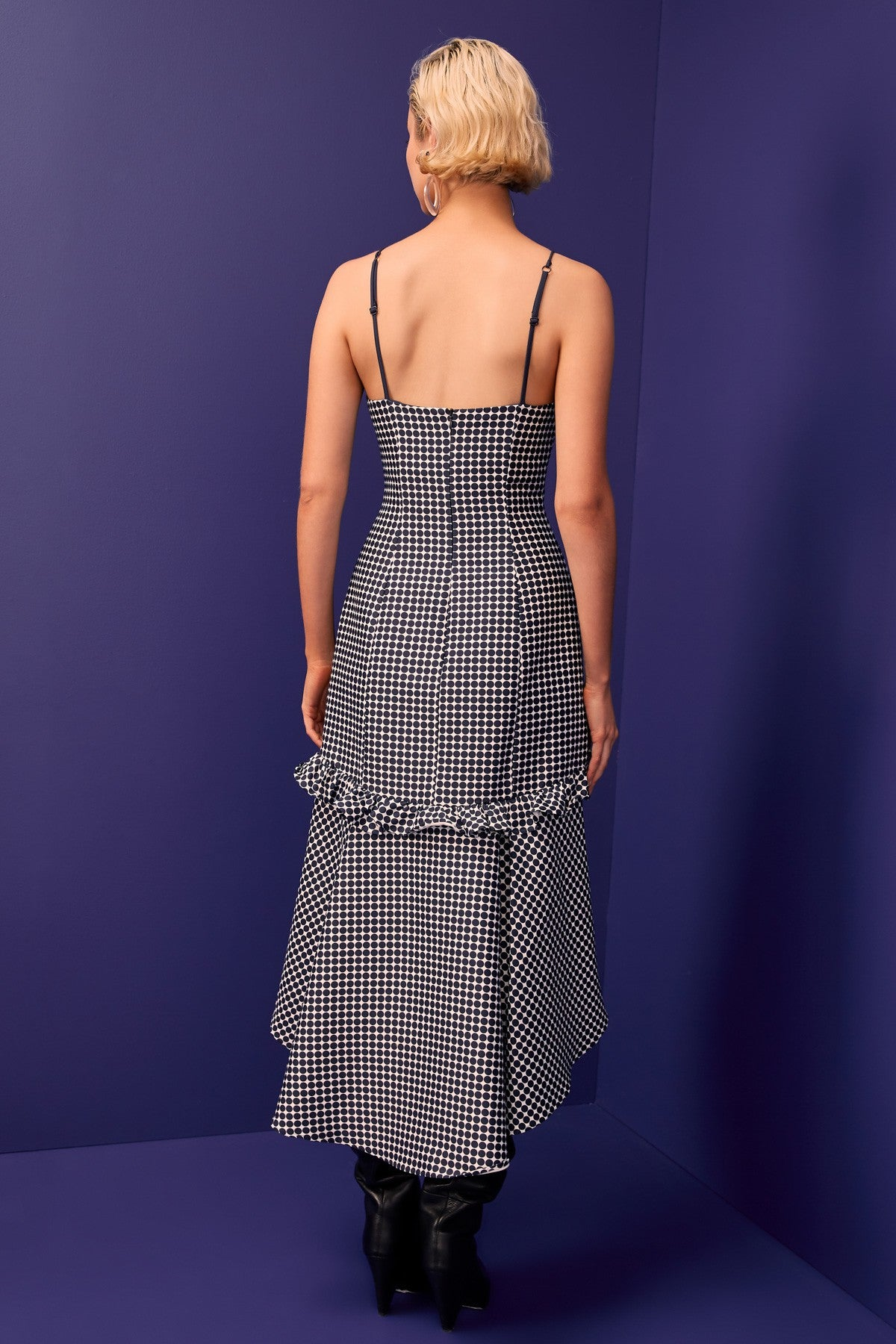 INDULGENT MIDI DRESS navy spot