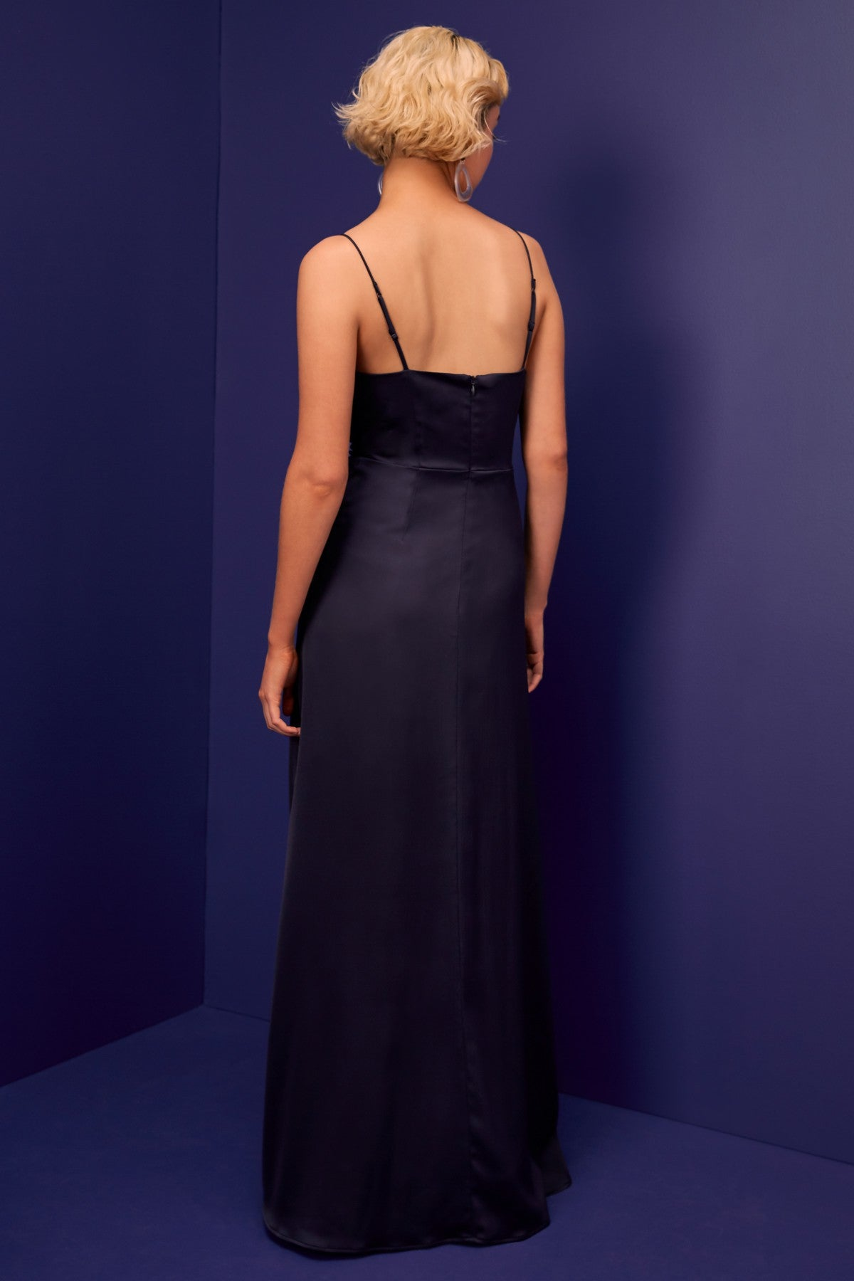 JAGGED GOWN navy