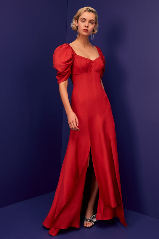 SILHOUETTE GOWN red