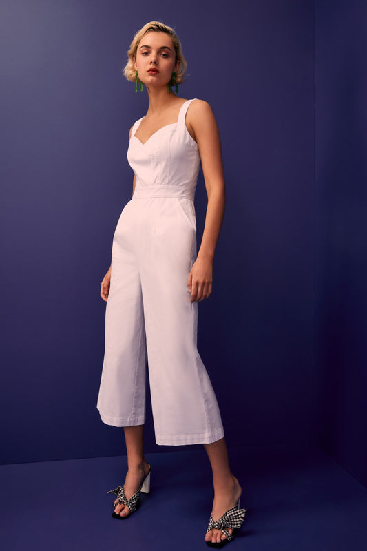 SILHOUETTE JUMPSUIT ivory