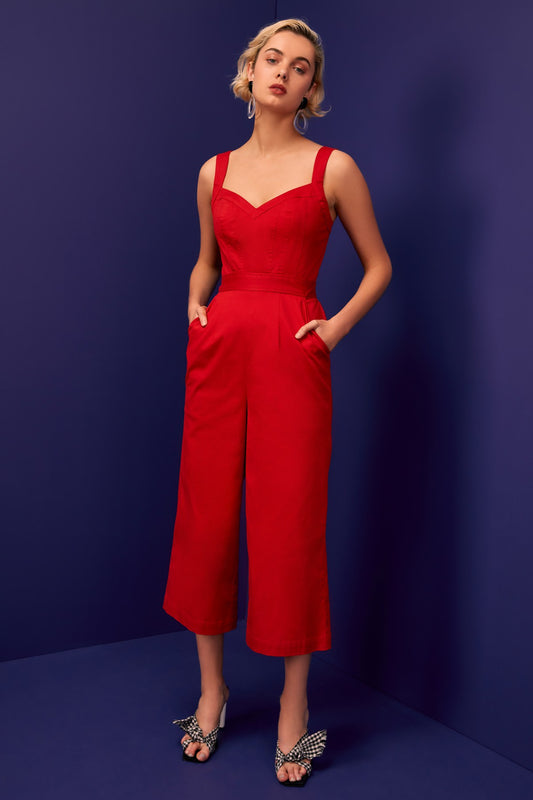 SILHOUETTE JUMPSUIT red
