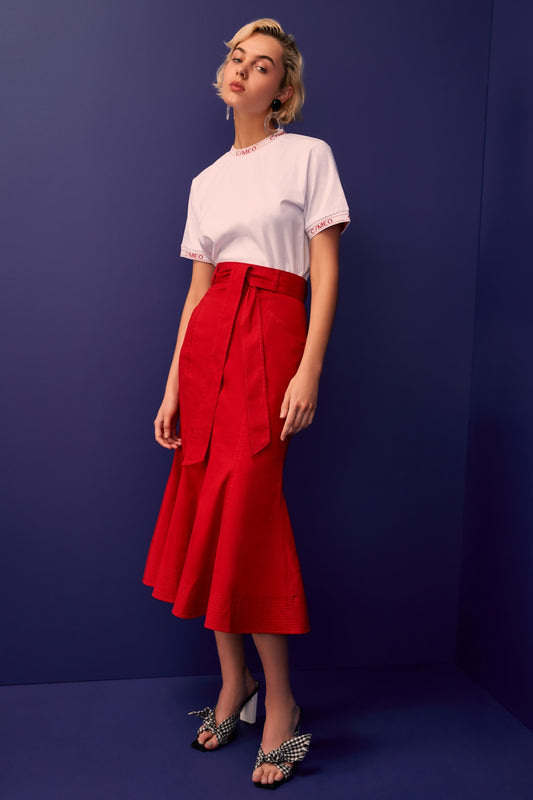 SILHOUETTE SKIRT red