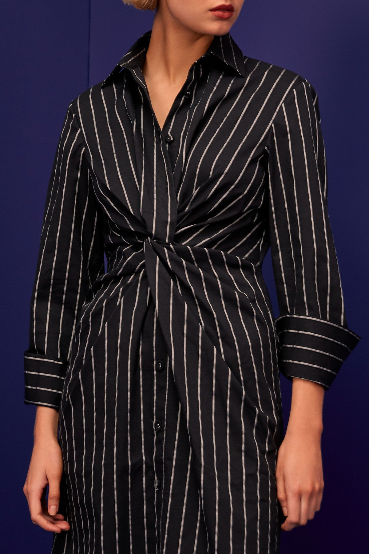 STILL MOTION DRESS black stripe