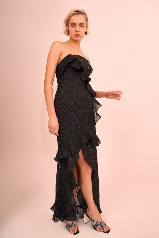 THINK ABOUT ME GOWN black