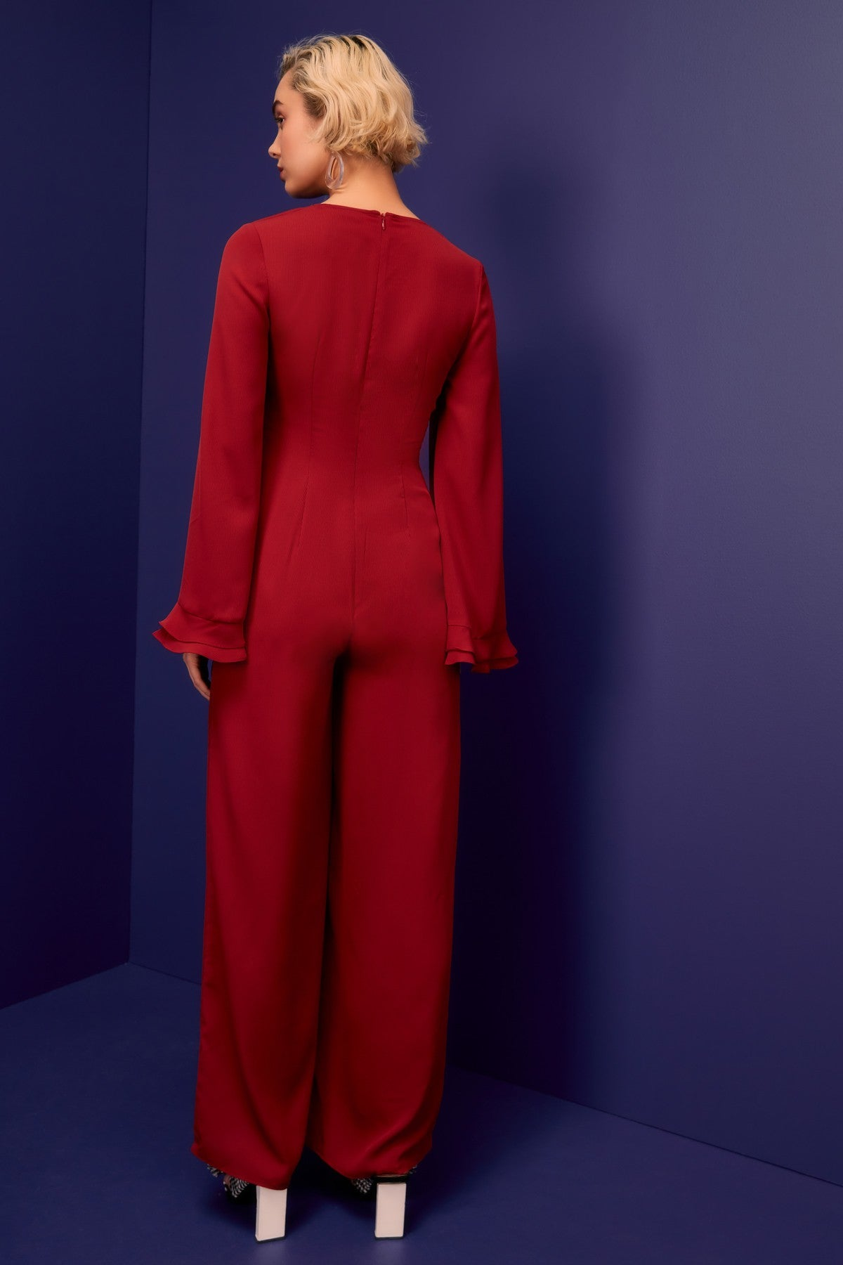 VISCERAL JUMPSUIT berry