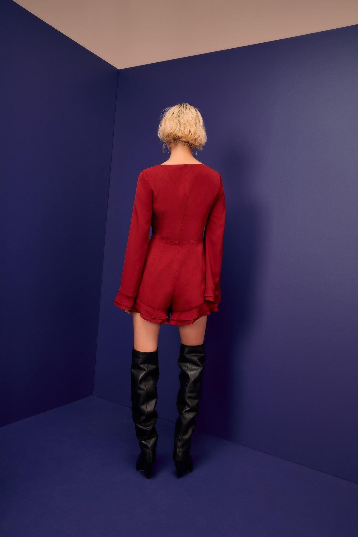 VISCERAL PLAYSUIT berry