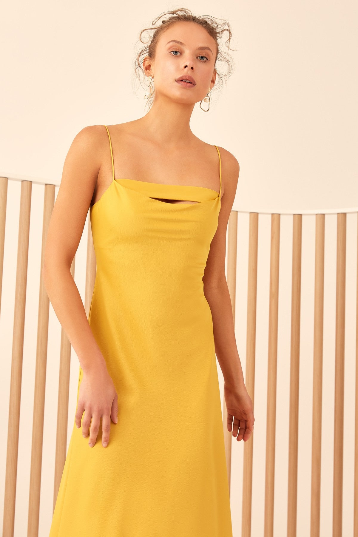 ALL RIGHT NOW SHORT SLEEVE DRESS yellow