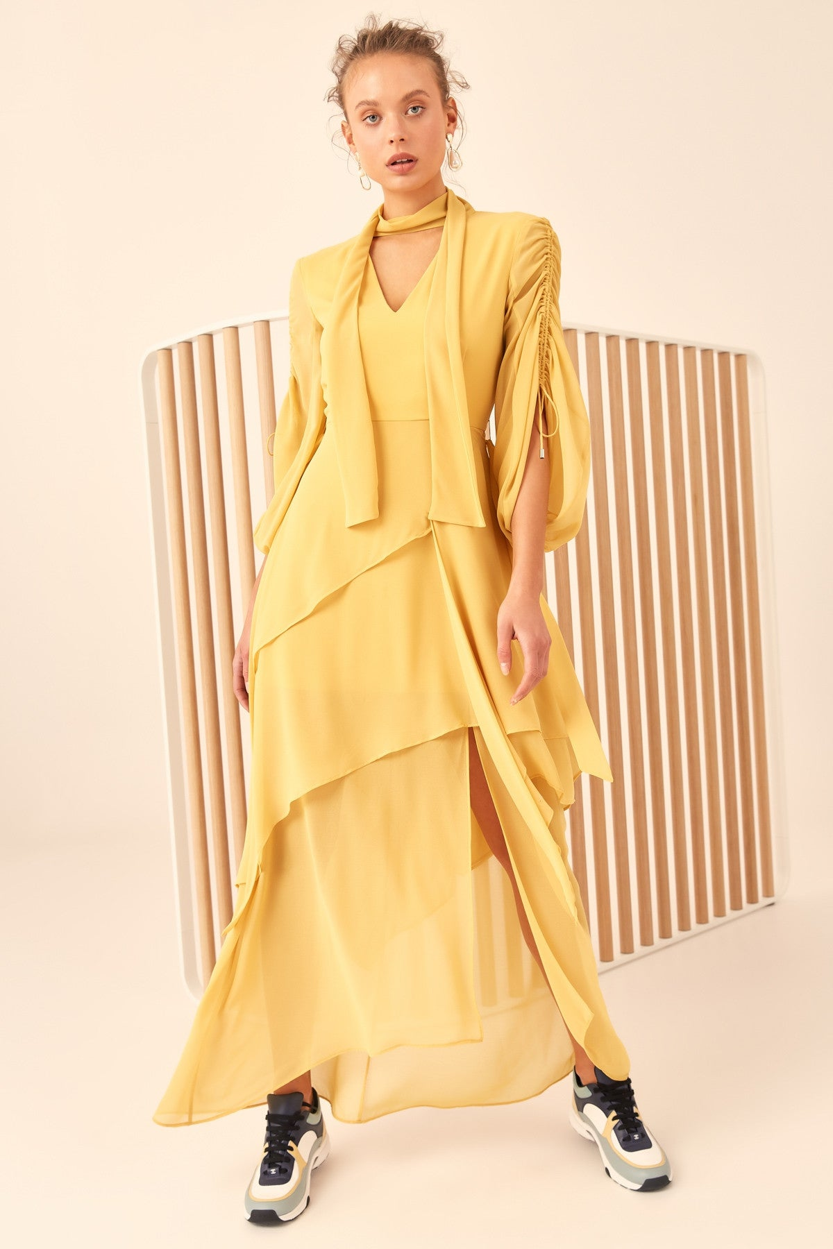HEART BREAKER MAXI DRESS yellow