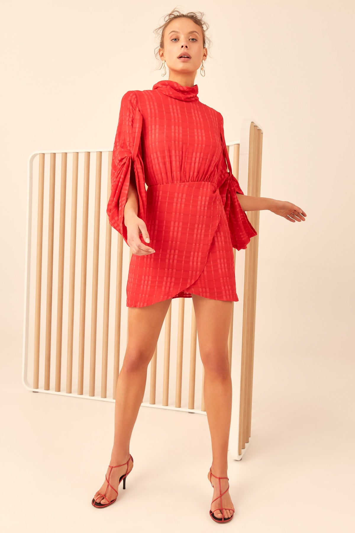 HEART BREAKER LONG SLEEVE DRESS chilli