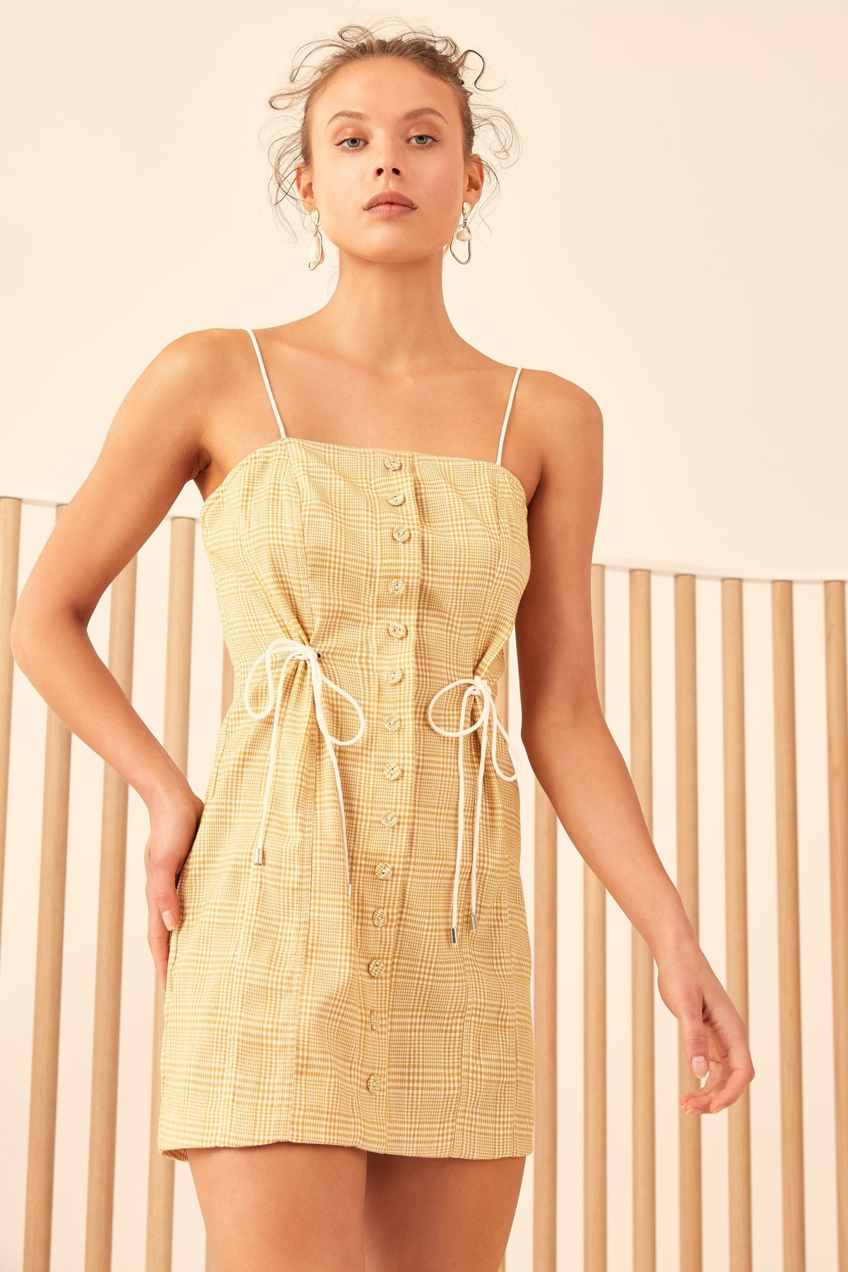 HOPES UP DRESS marigold check