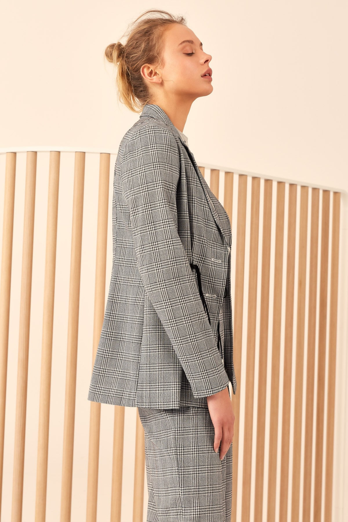 HOPES UP BLAZER black check