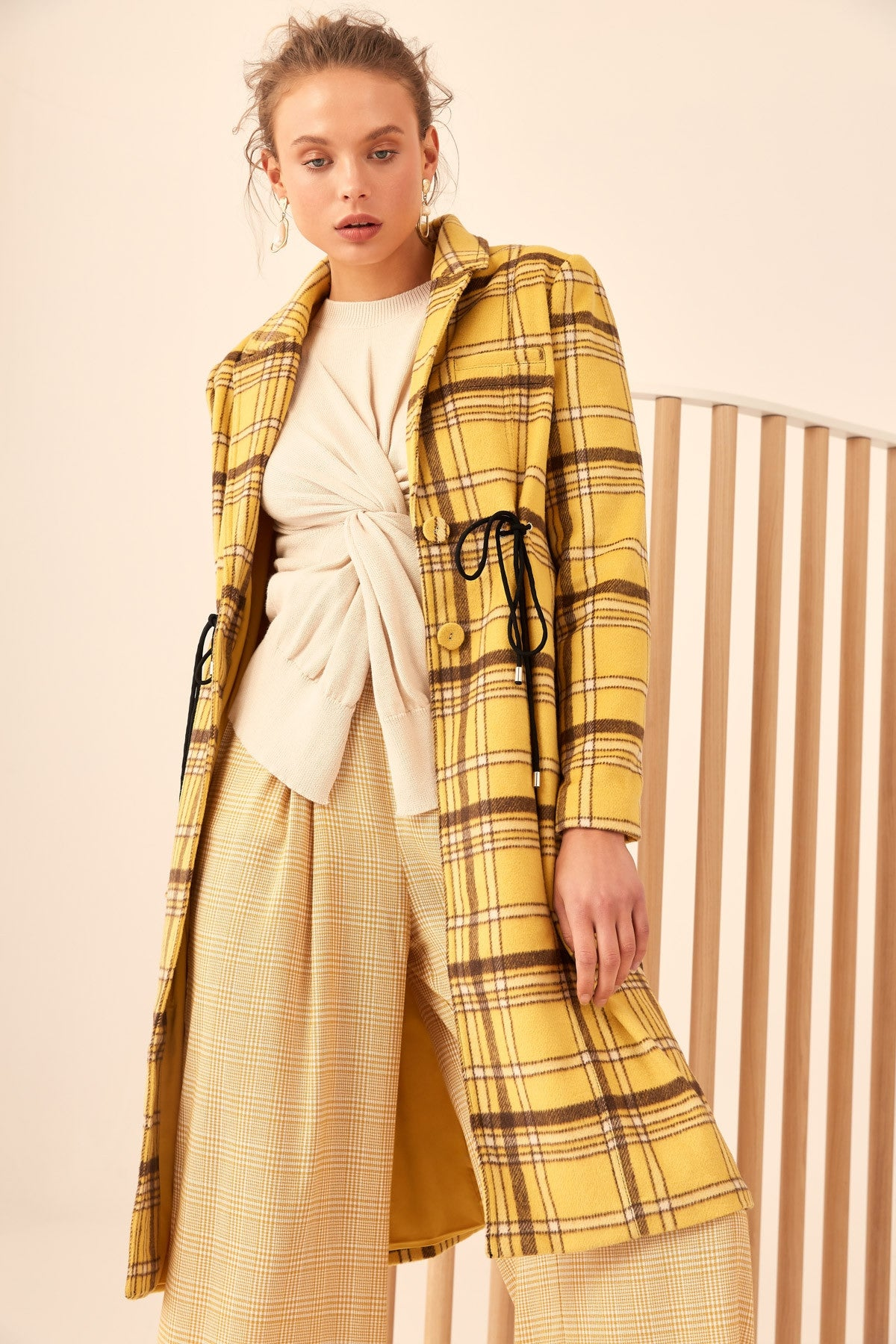 HOPES UP COAT yellow check