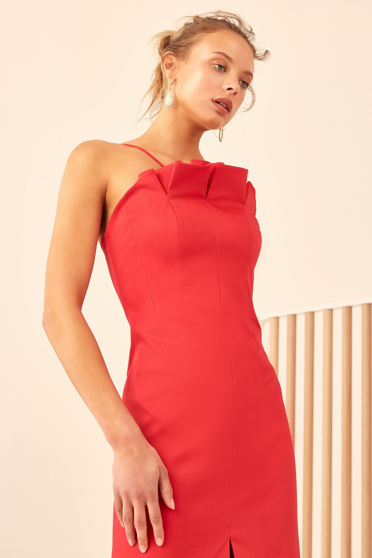 ONLY WITH YOU MIDI DRESS chilli