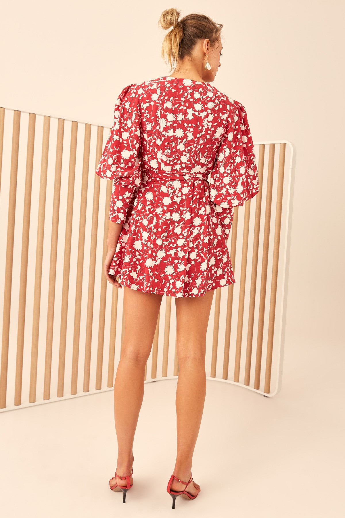 OPACITY DRESS chilli floral