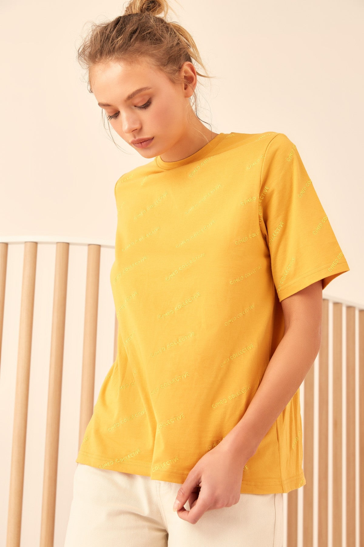 OVER AND OVER T-SHIRT marigold