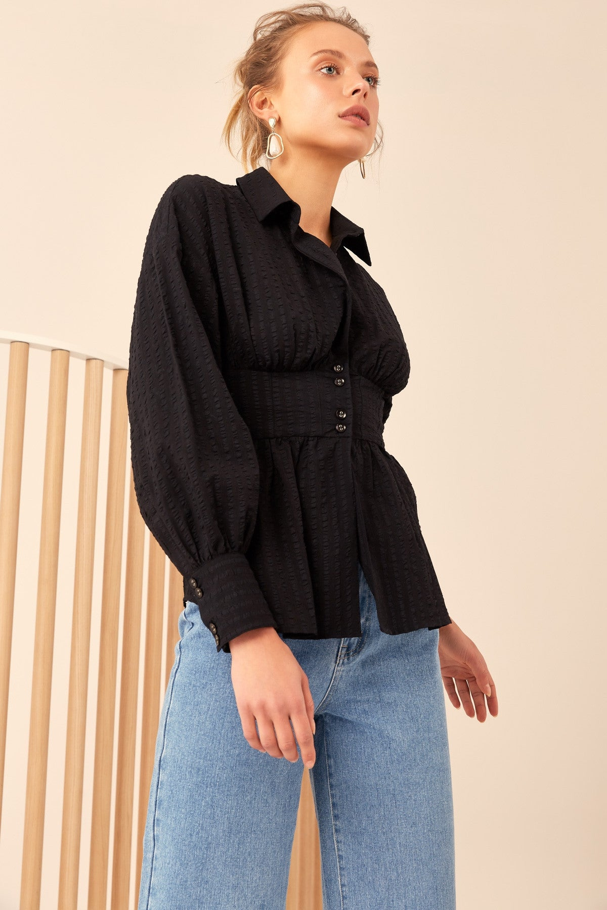 REFORM LONG SLEEVE TOP black