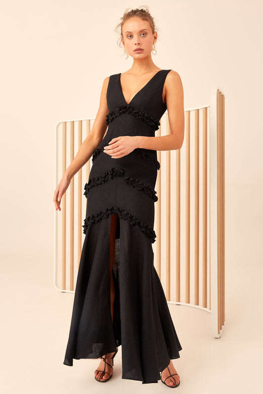 THOUSAND TIMES GOWN black