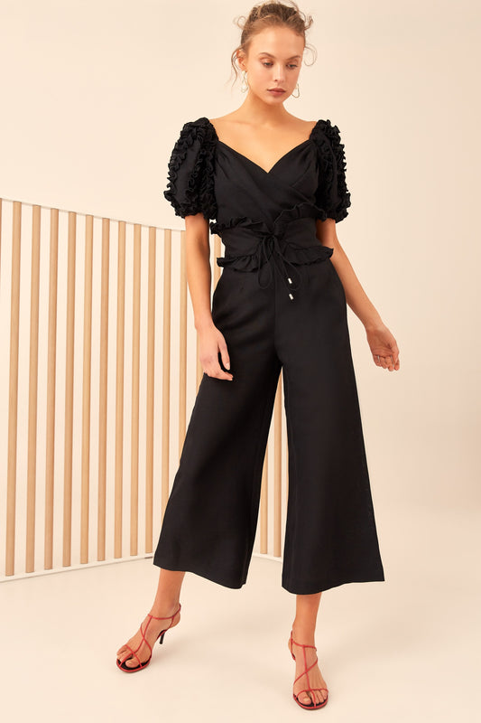 THOUSAND TIMES JUMPSUIT black