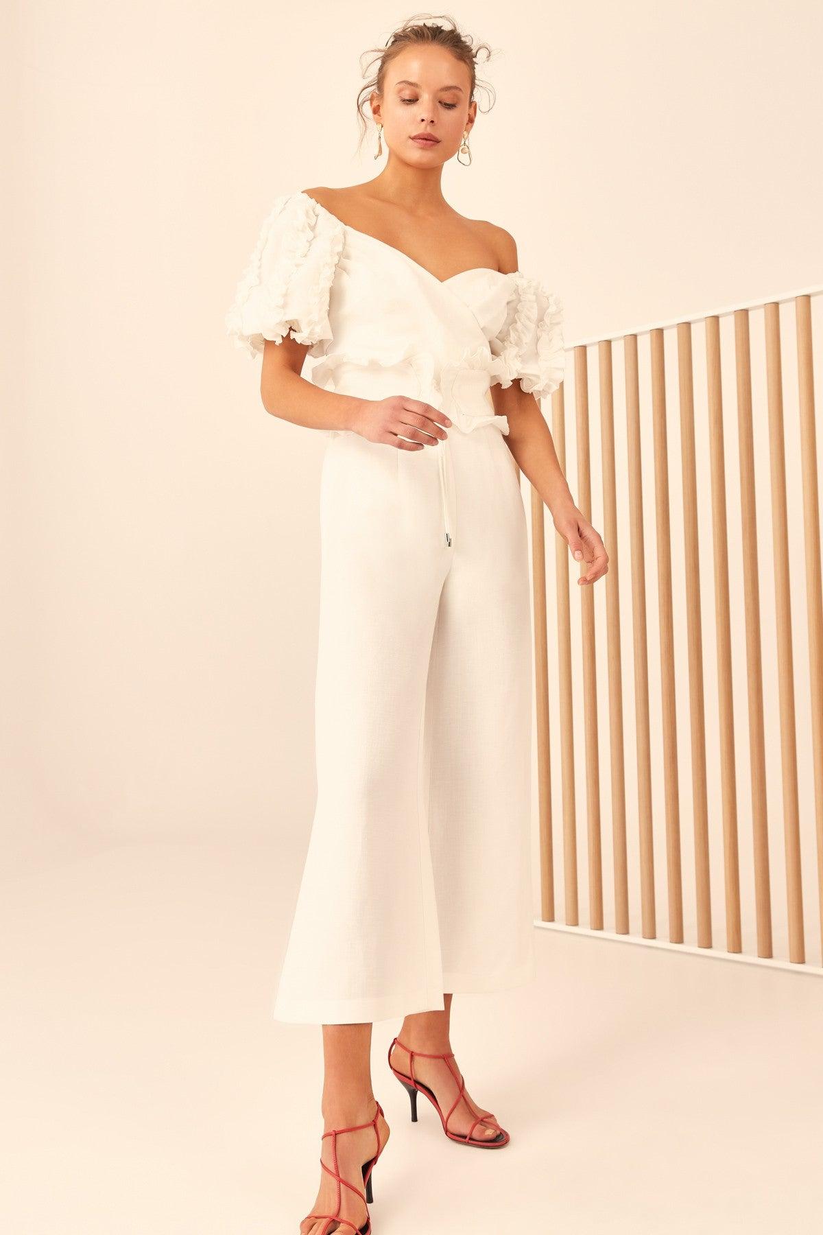 THOUSAND TIMES JUMPSUIT ivory