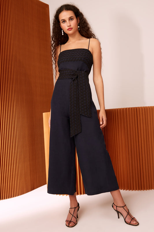 INCISE JUMPSUIT navy