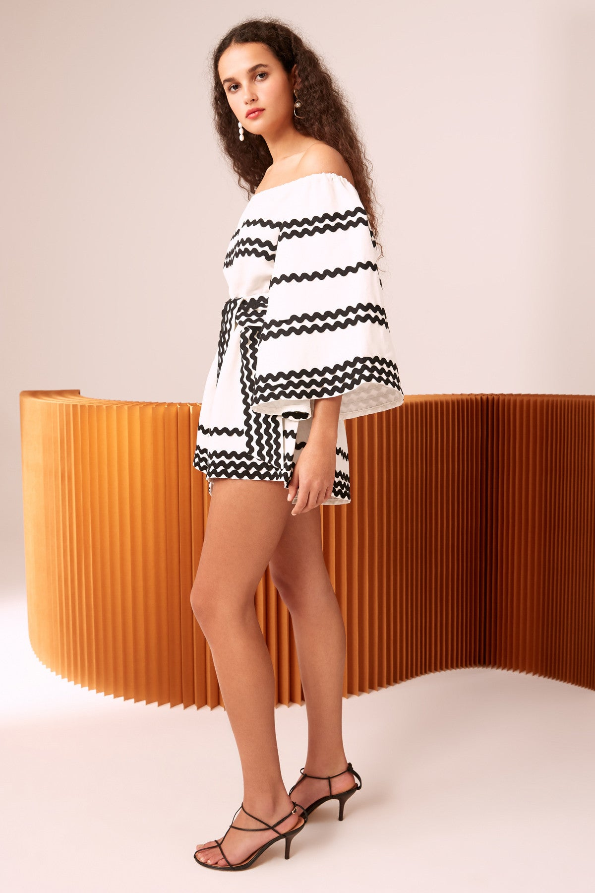 INCISE PLAYSUIT ivory