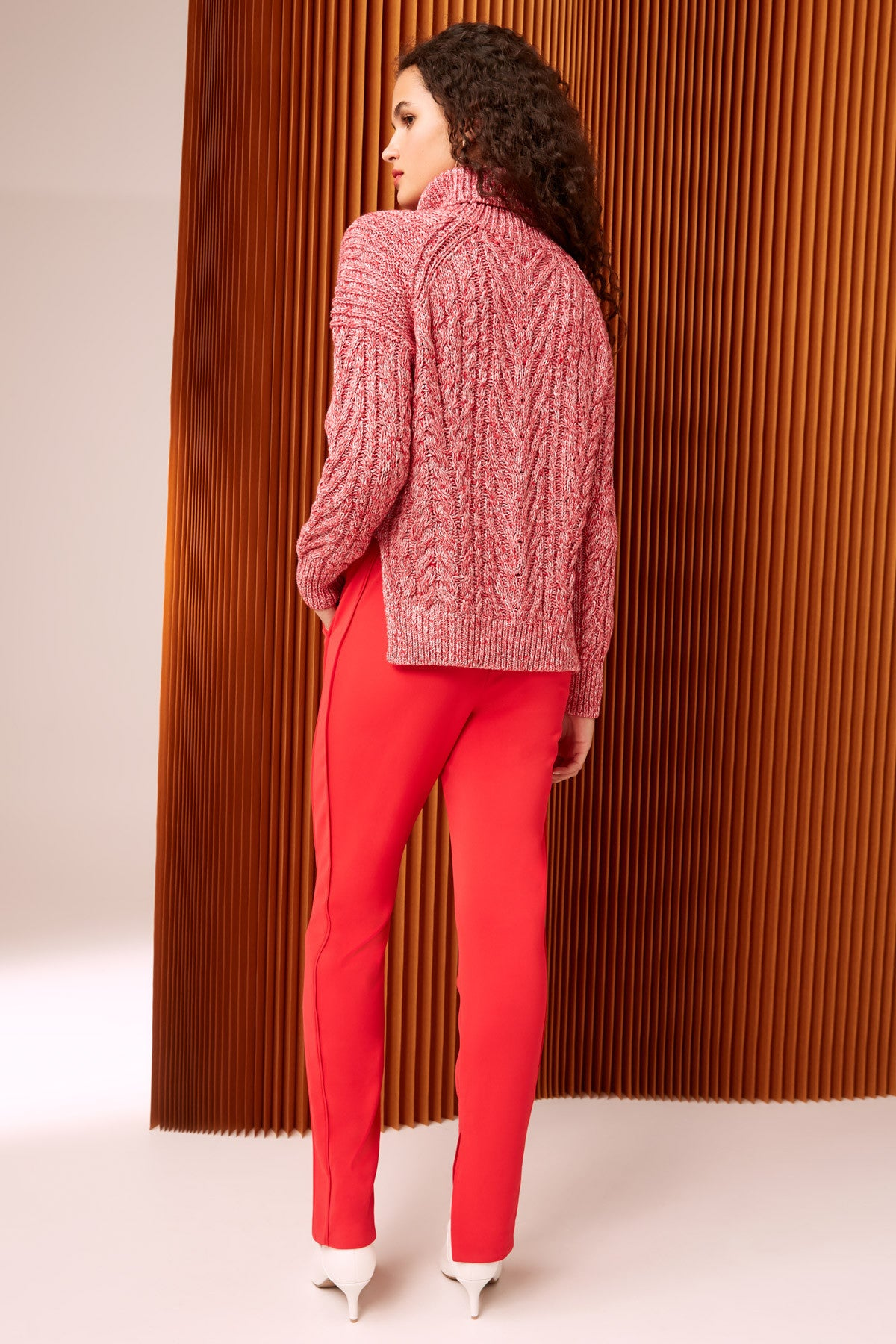 UP TOGETHER KNIT JUMPER red marle