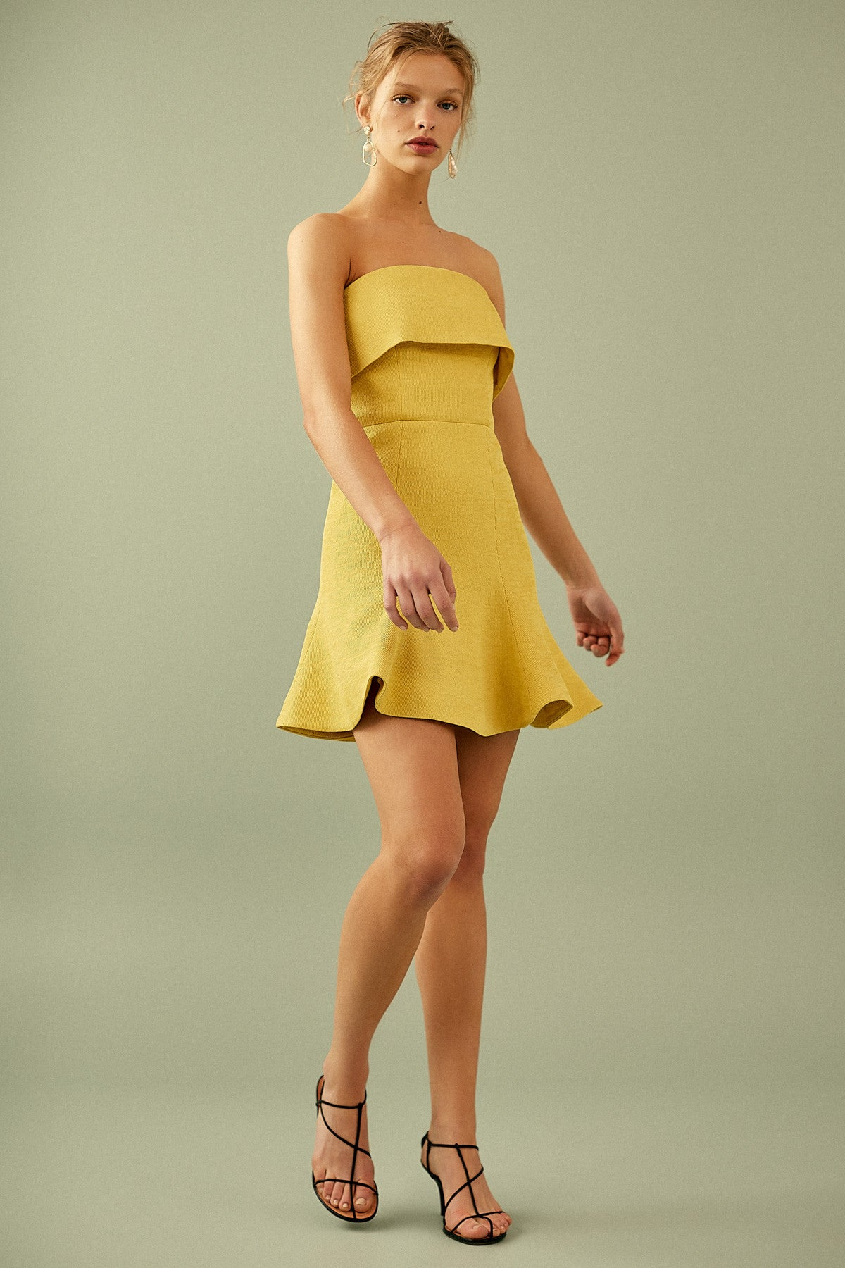 APEX MINI DRESS yellow