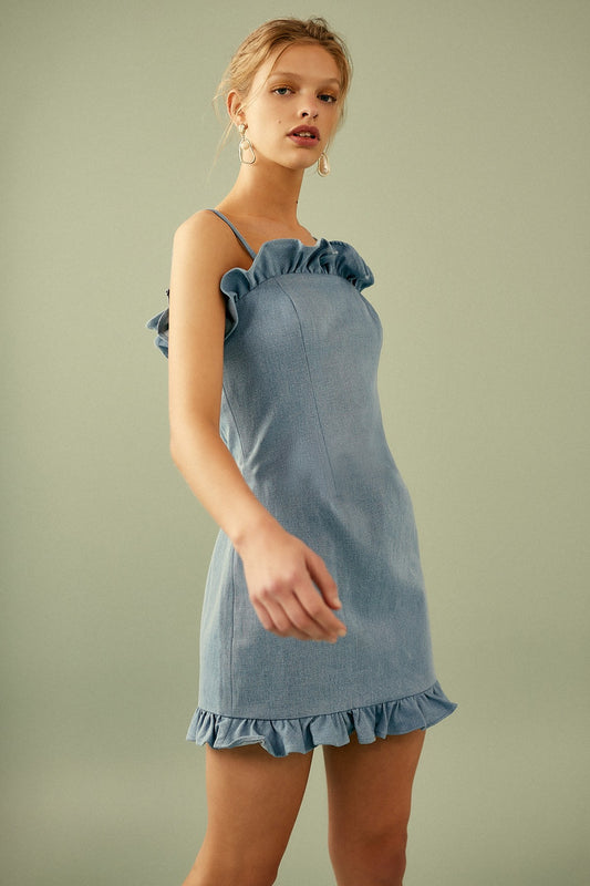 DECOY MINI DRESS light blue