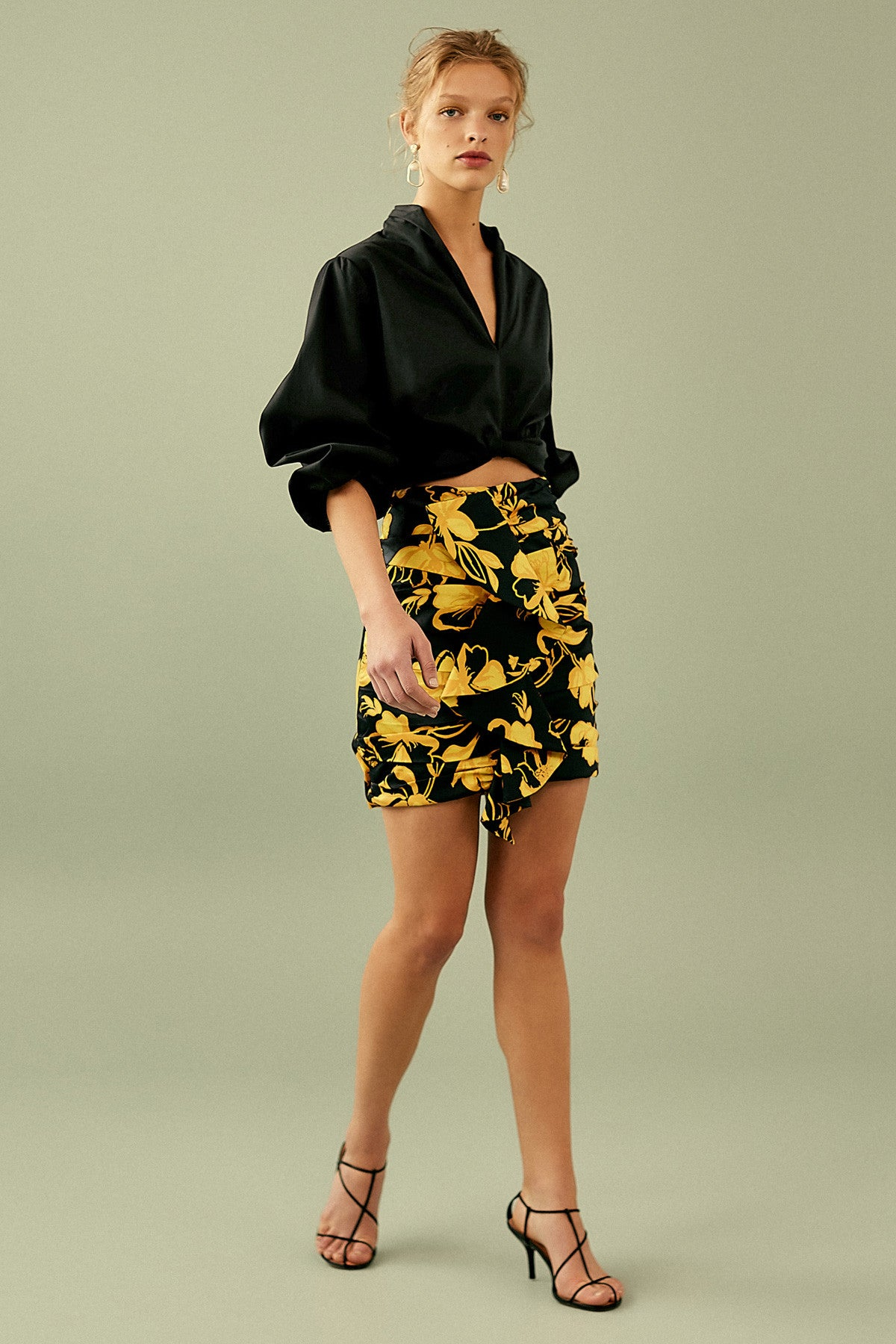 NOMAD SKIRT black abstract