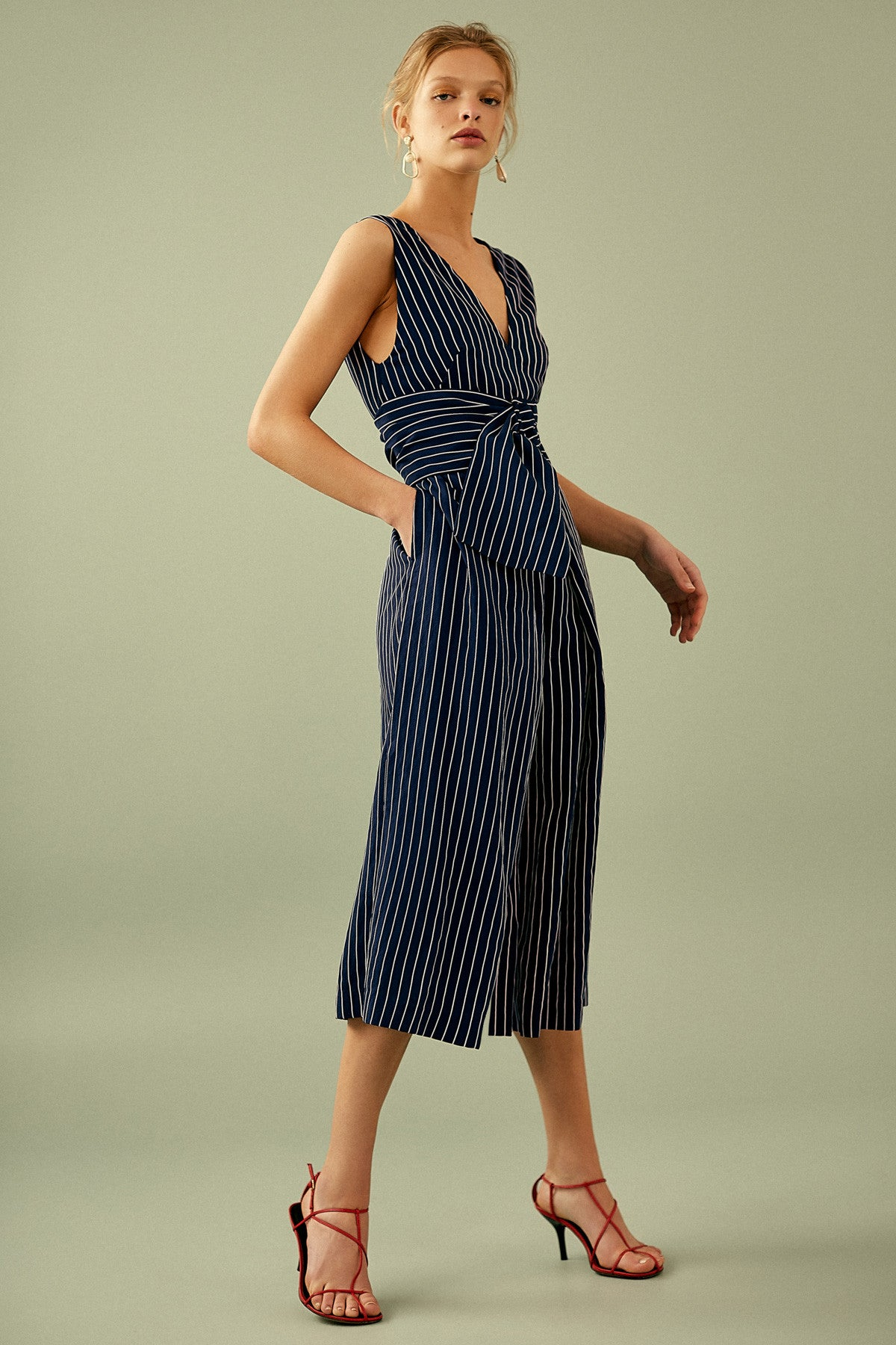 SHADOW OF JUMPSUIT navy w ivory