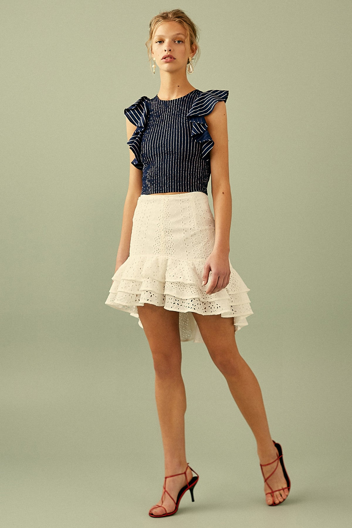 3656067890 C/MEO COLLECTIVE | SOLSTICE SKIRT ivory | C/MEO COLLECTIVE