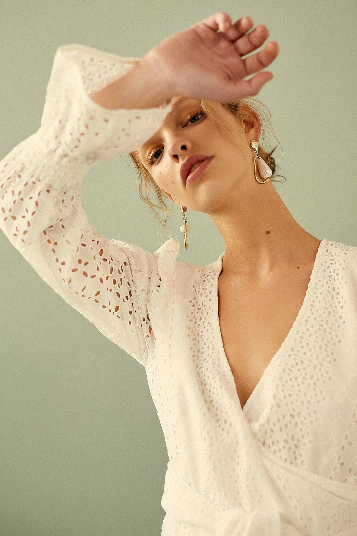 SOLSTICE LONG SLEEVE TOP ivory