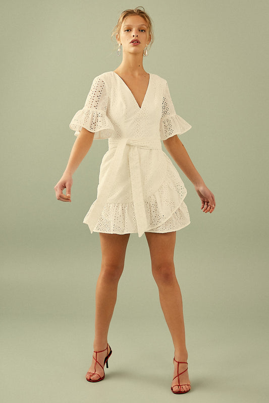 SOLSTICE MINI DRESS ivory