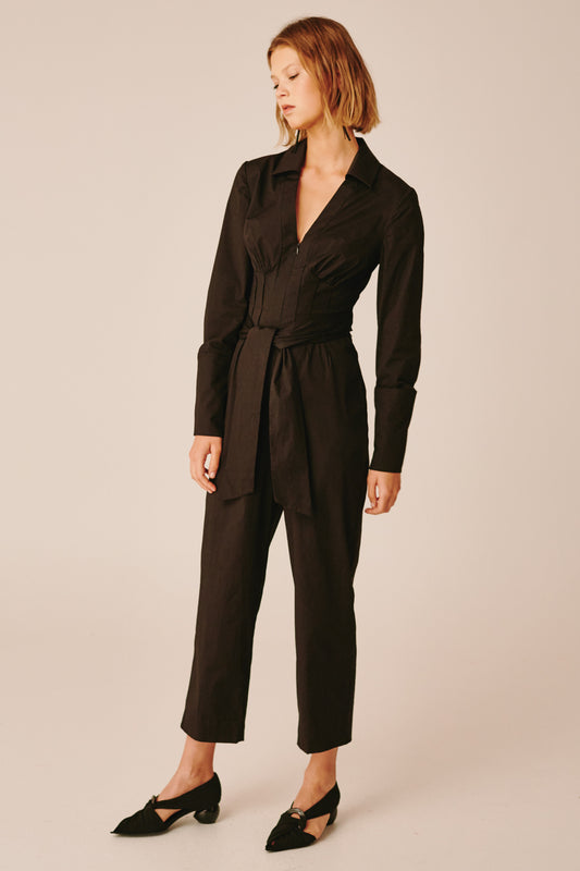 FAULT LINE JUMPSUIT black