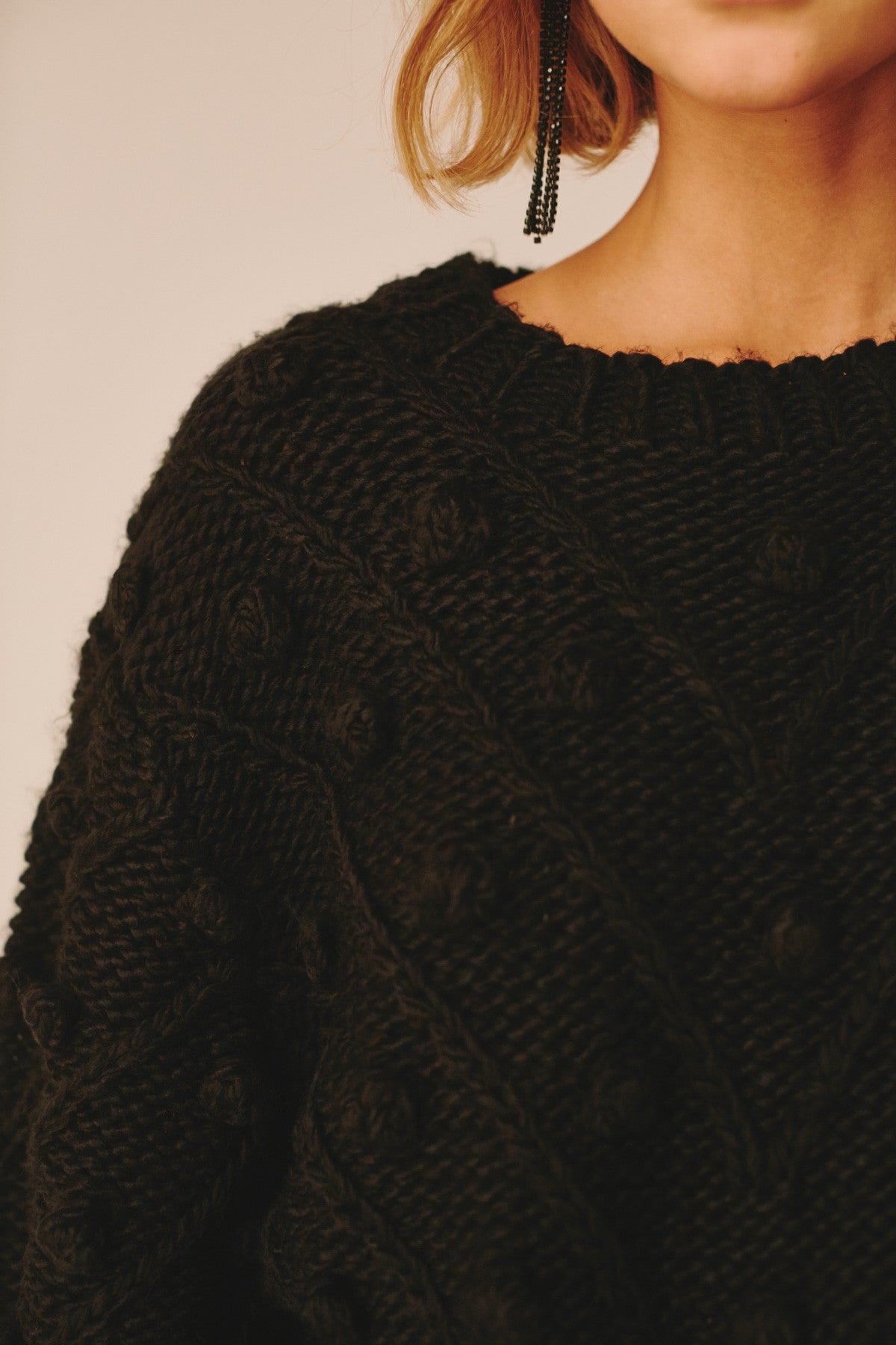 KNOW HOW KNIT JUMPER black