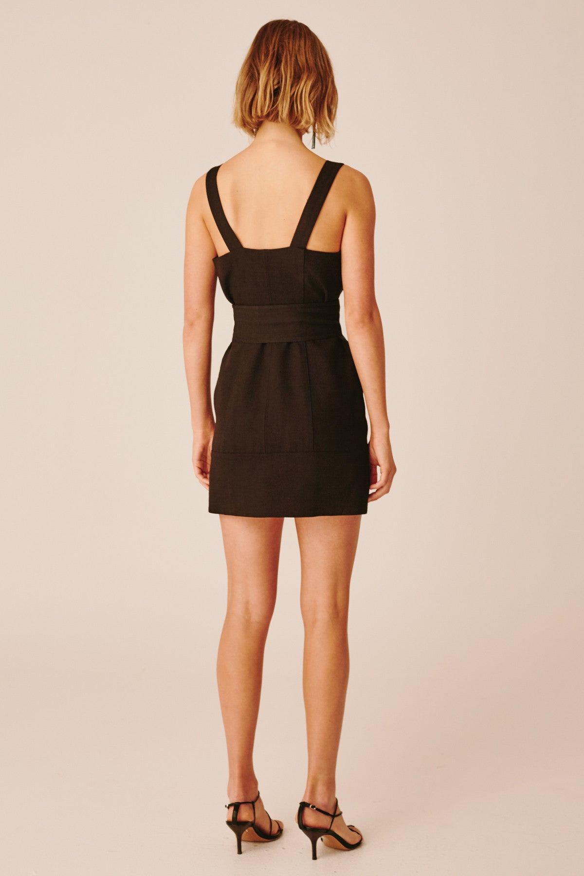 COLLISIONS MINI DRESS black