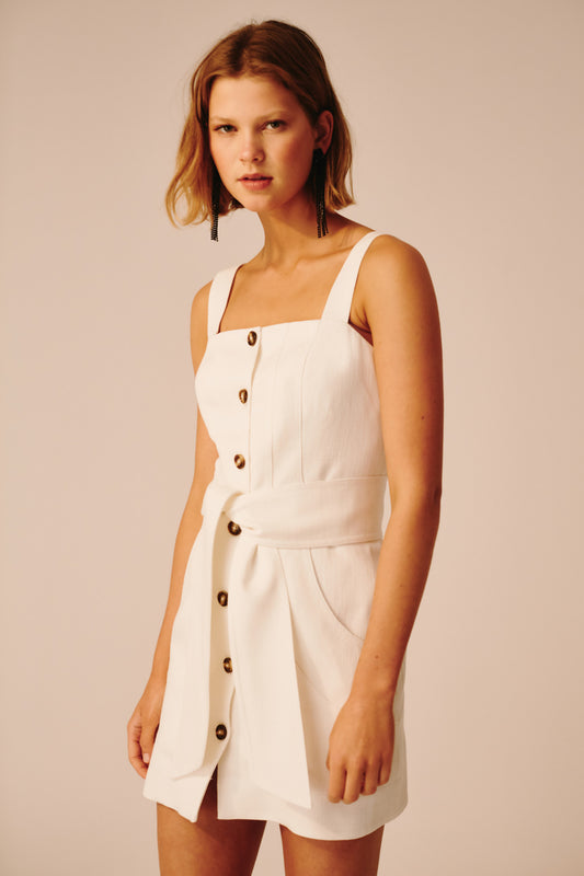 COLLISIONS MINI DRESS ivory