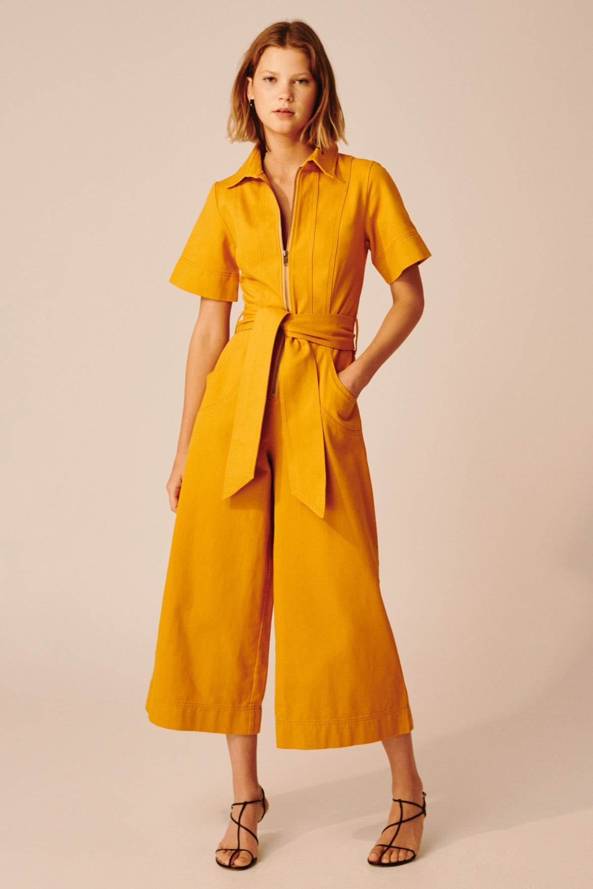 REGARDLESS JUMPSUIT mustard